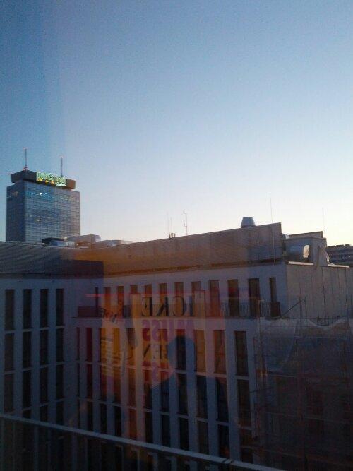 Blick aus dem obersten Stockwerk
