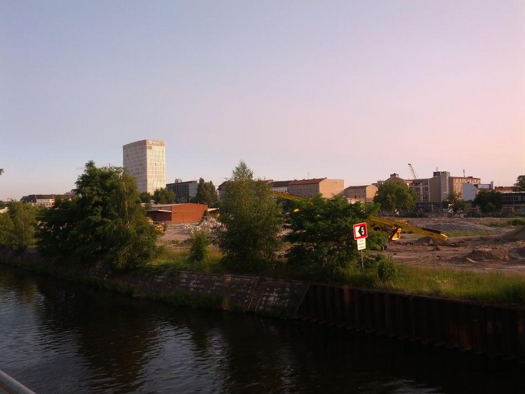 Baustelle hinter dem Hauptbahnhof